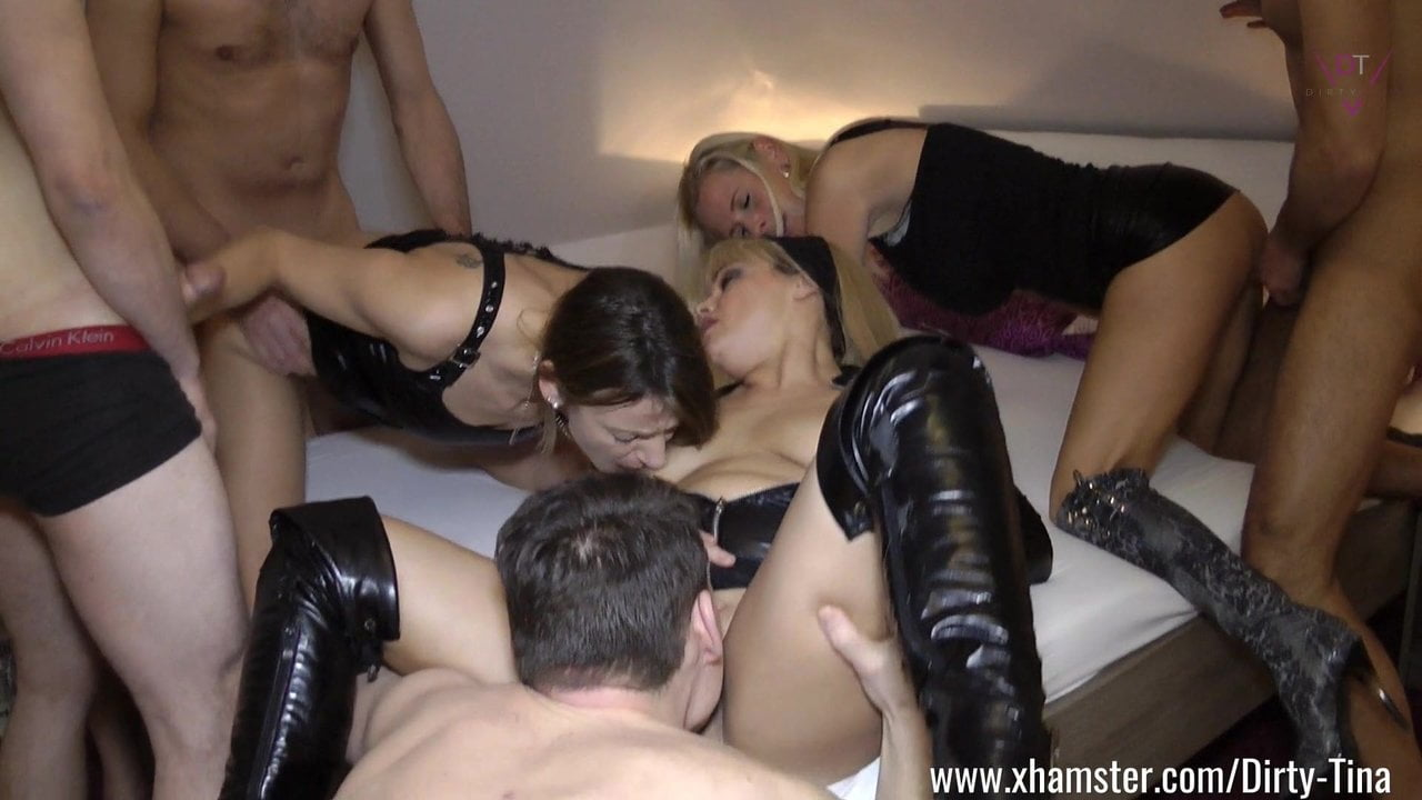 Gangbang with three hot MILFs Part One