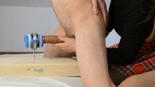 Fuck New Fleshlight, Girl guides him - Cumshots with Prostate Massage