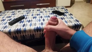 Uncut Big Cock Soft to Hard Cums Twice