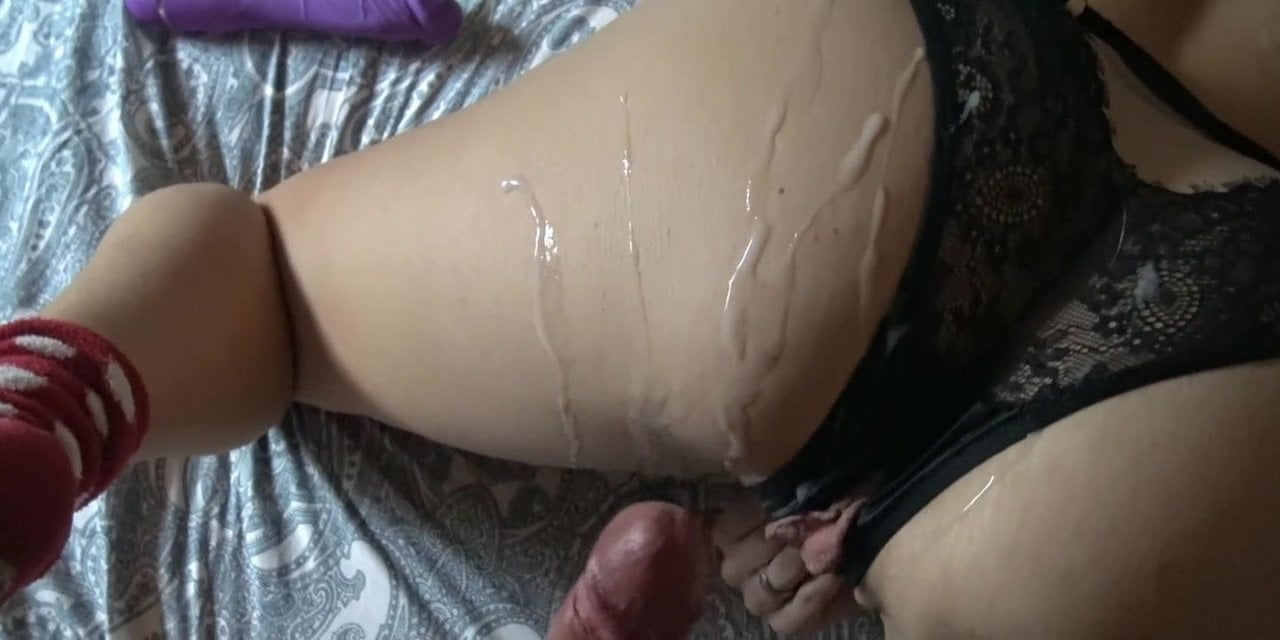3 Times Cum in Row. Horny Guy and His Wife.