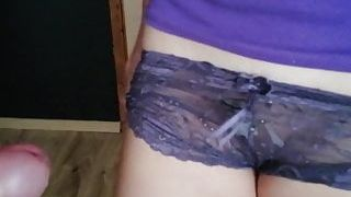 Cum in my neighbor's panties