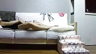 Ip camera, korean girl masturbates